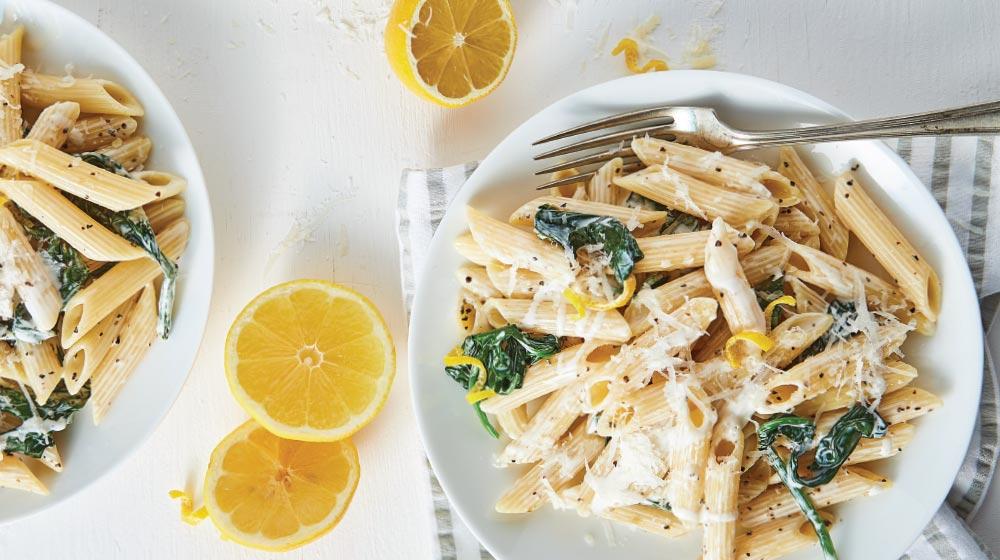 Recetas de pastas italianas: penne al limón