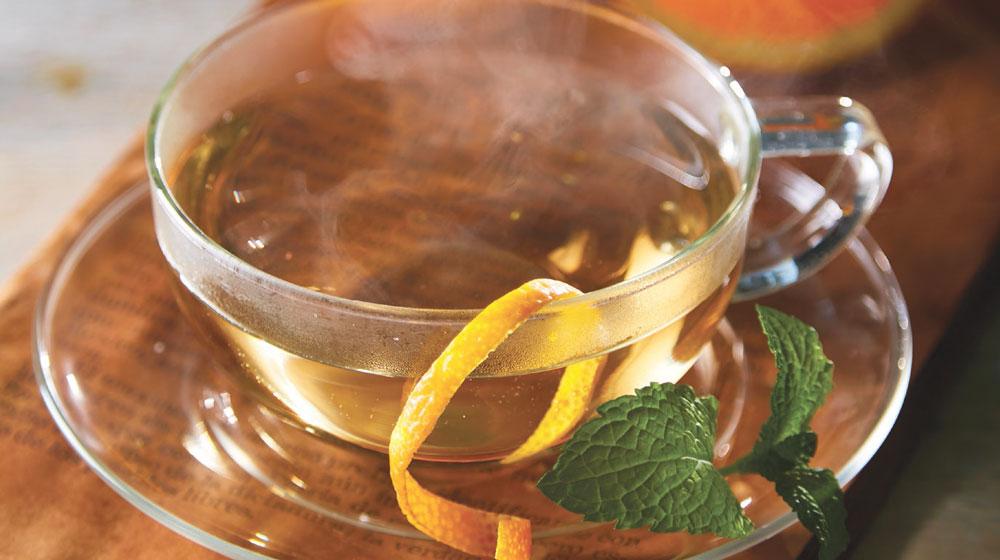 té de menta con naranja