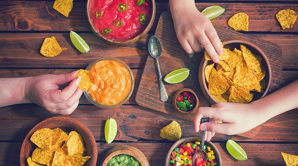 Guisados para taquiza de una noche mexicana.