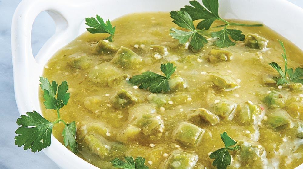 nopales en salsa verde