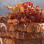 pan francés con tocino y miel