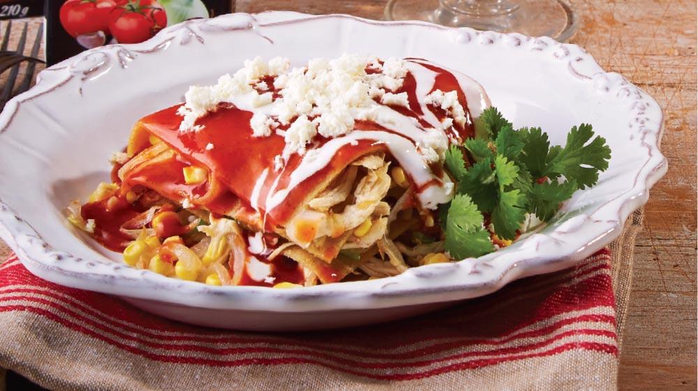 pastel azteca de pollo