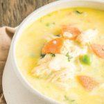 sopa de pollo cremosa