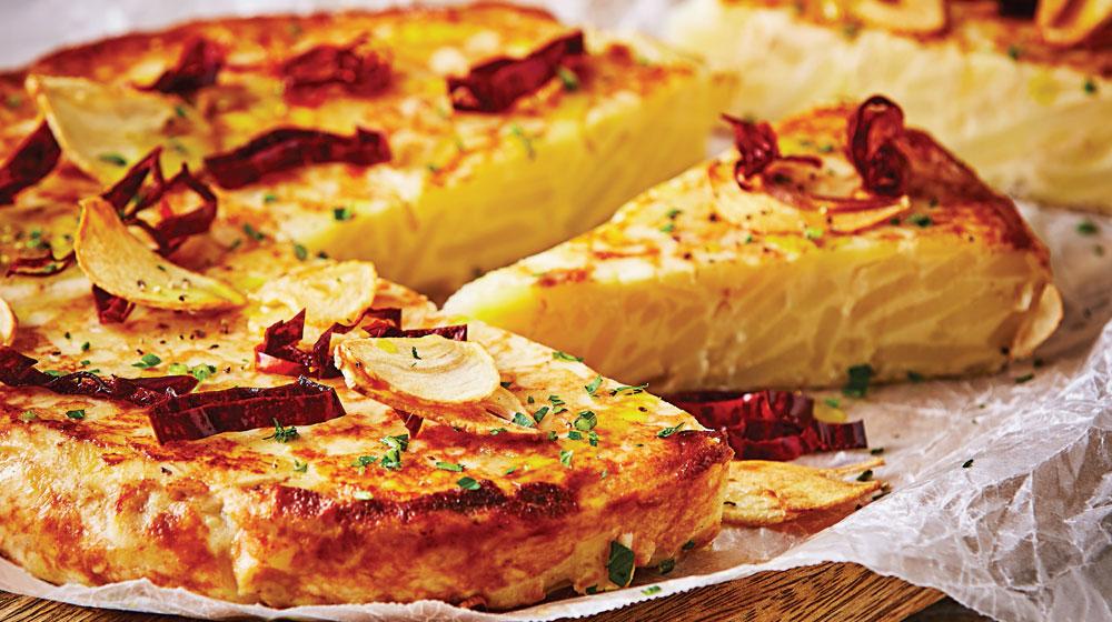 tortilla española al ajillo