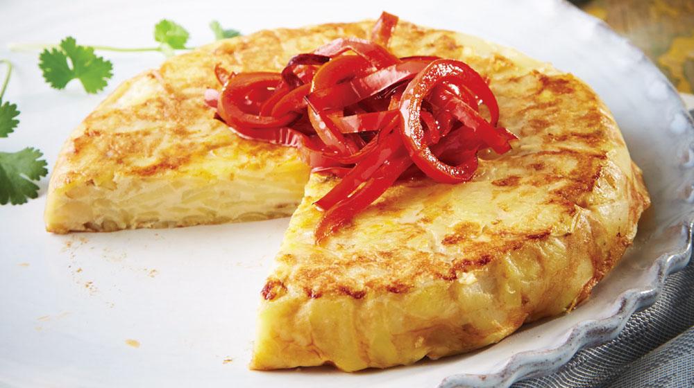 tortilla española con pimientos