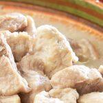 trocitos de carne en pulque