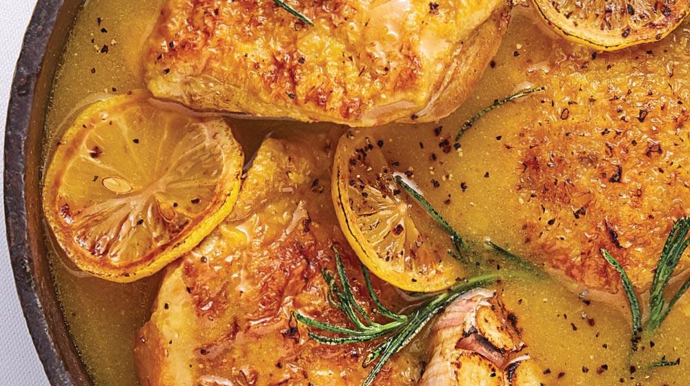 pollo al limón y romero