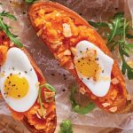 camotes rellenos de huevo estrellado