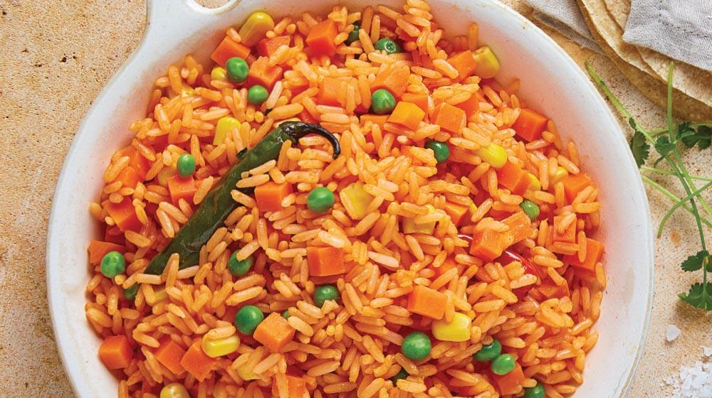 como hacer arroz rojo