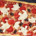 pizza pepperoni con fantasmas