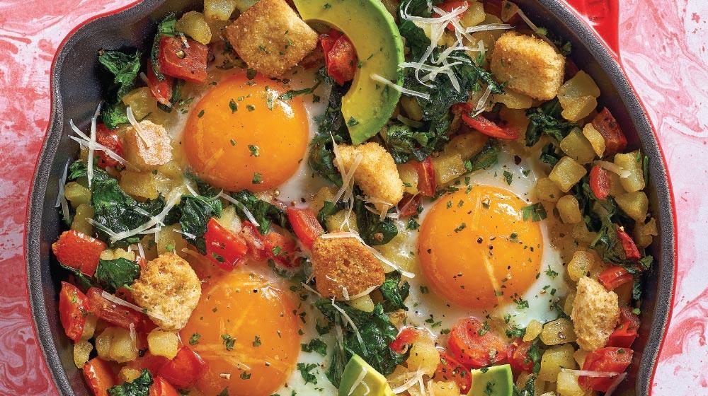 skillet de huevo