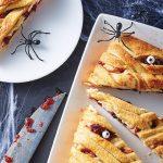 trenza de queso con arandanos
