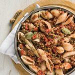 lentejas receta con pasta