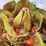 receta de alcachofas con cous cous