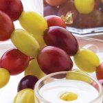 brochetinas de uvas