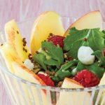 ensalada de manzana receta con arúgula y frambuesa