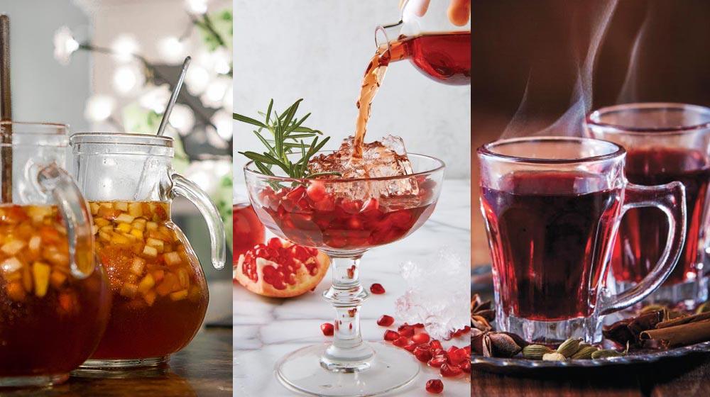 bebidas con vino tinto
