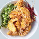 alitas de pollo al jengibre