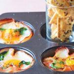 cazuelitas de jamón con huevo