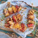 receta de las brochetas de lomo al curry