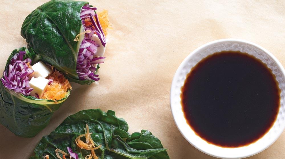 wraps de vegetales y tofu