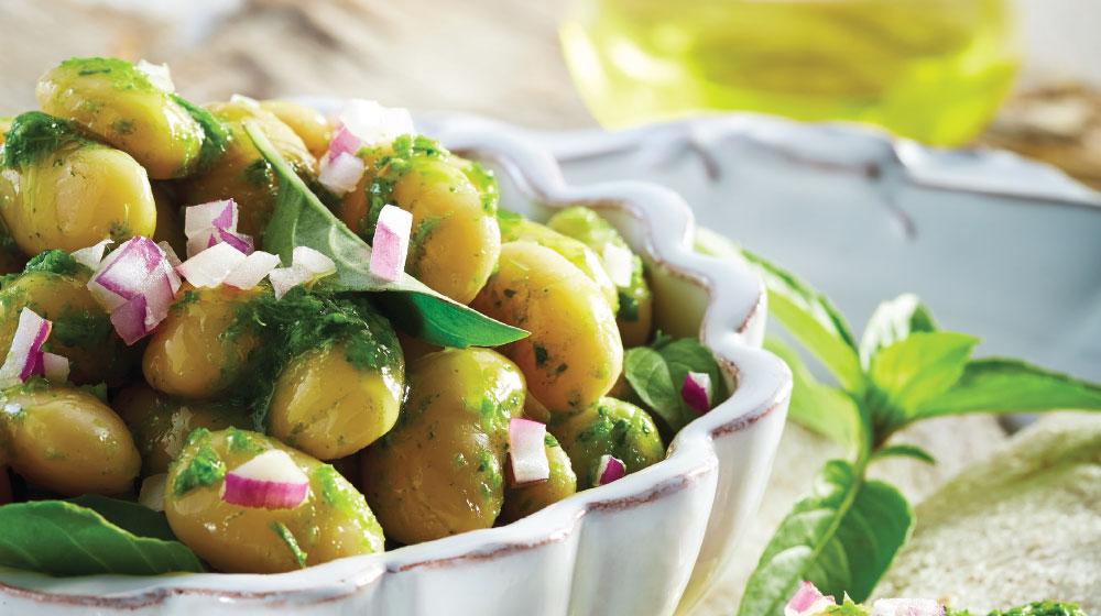 alubias receta vegetariana al pesto
