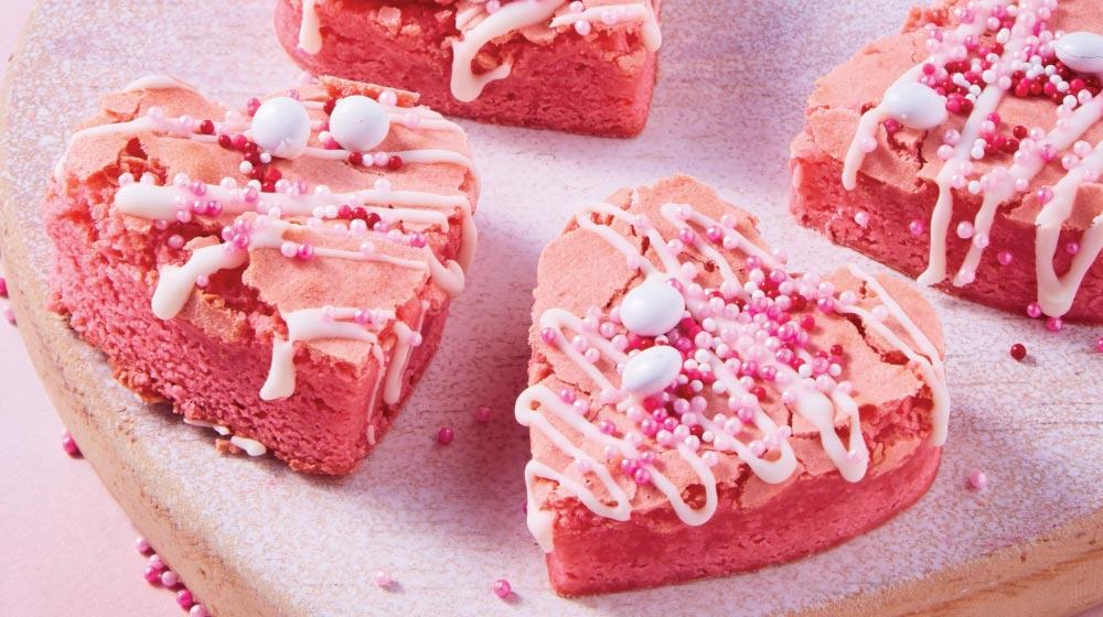 Brownies receta en forma de corazón