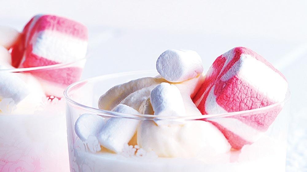 gelatina de bombones con leche