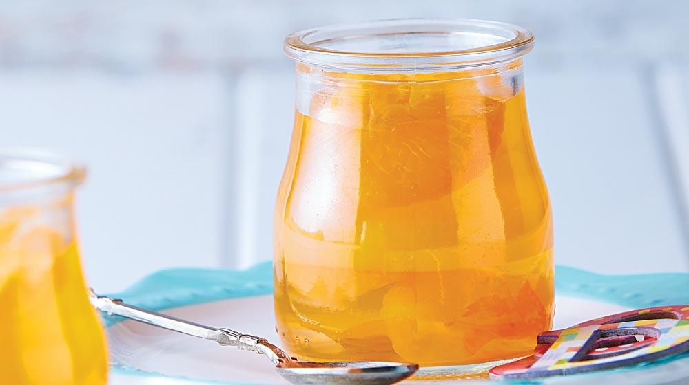 gelatina de mandarina natural