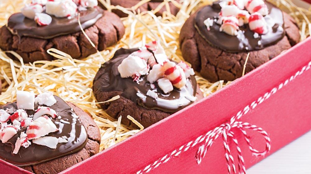 polvorones cubiertos de chocolate con menta