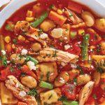 sopa minestrone receta con alubias