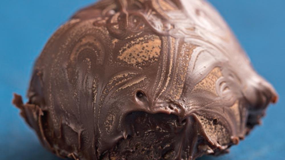 trufas con chocolate semiamargo