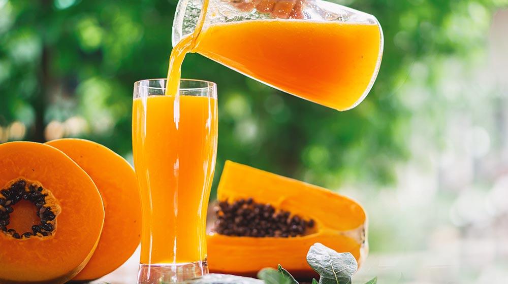 agua de papaya con limón y jengibre
