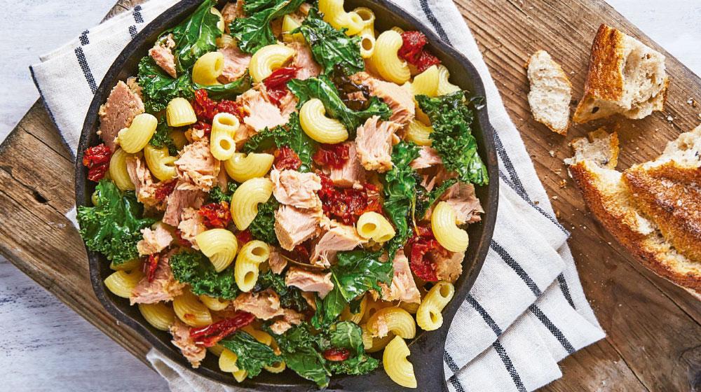 Ensalada De Pasta Con Atún Y Kale Cocina Fácil