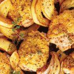 pollo al limón rostizado con calabaza