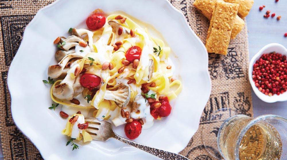 receta de pasta con setas