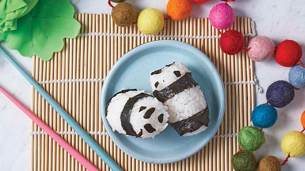 mini sushi en forma de panda