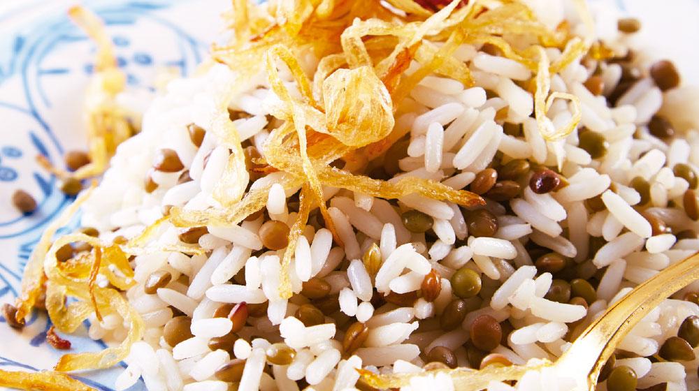 arroz con lentejas