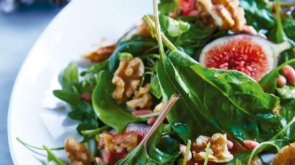 arugula receta en ensalada con higos