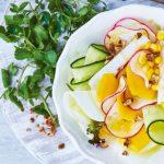 Receta de ensalada de elote con jícama y mango
