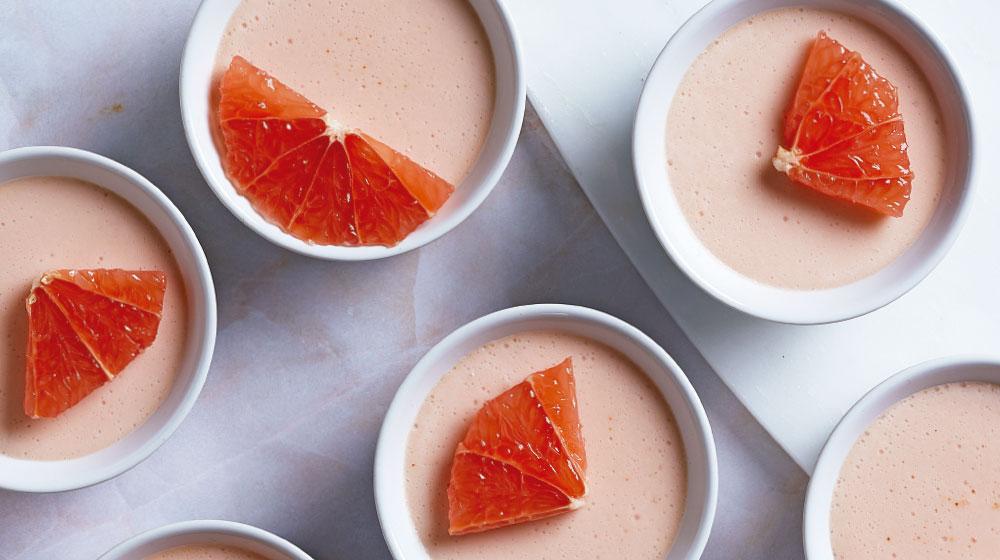 Deliciosa gelatina cremosa de toronja