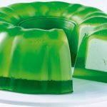 gelatina rellena sabor pistache