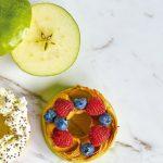 Postres fáciles para niños paso a paso: bagel de manzana