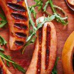 Salchicha argentina con ensalada de arúgula