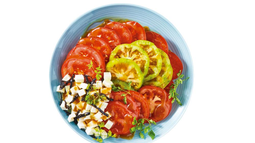 Comida sana y rápida para mamá: ensalada de jitomate