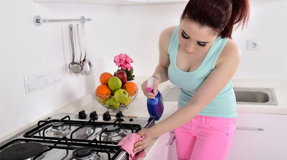 limpieza de la cocina