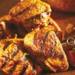Brochetas de pollo receta estilo tandoori