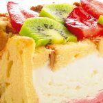 Cassata de coco y fresa
