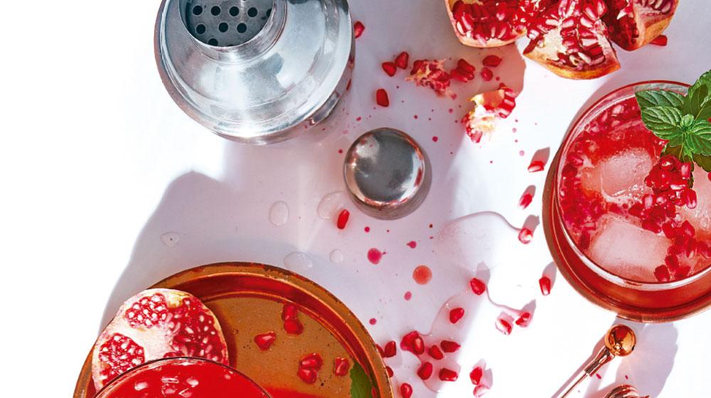 Gin tonic de granada con menta: receta
