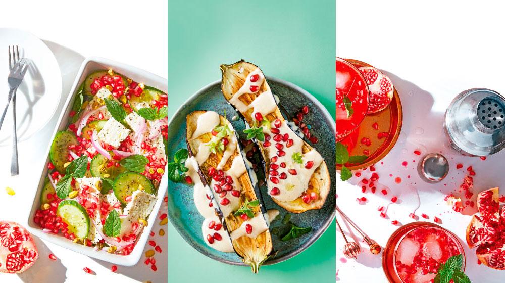 Granada fruta y deliciosas recetas